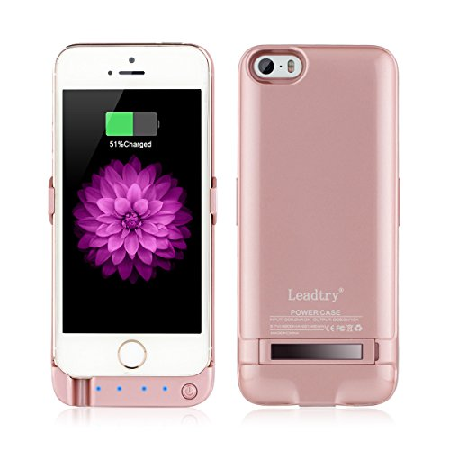 Leadtry 4200mah Iphone 5 5s 5SE Universal Slim Case Rechargeable