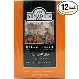 Ahmad Tea (loose tea) Kalami Assam 454g/1 lb (pack of 12) by Ahmad
