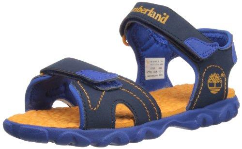 Timberland Splashtown 2 Strap Sandal (Toddler/Little Kid/Big Kid),Navy/Orange,9 M US Toddler