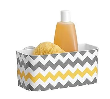 mdesign portaoggetti doccia da appendere con ventose portasapone e porta shampoo doccia per flaconi