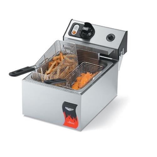 Vollrath (40706) 10 Lb. Standard-Duty 220V Electric Countertop Fryer - Cayenne Series