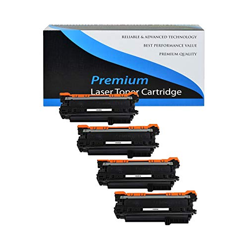 - KCMYTONER Compatible CE250X 504X 504A CE251A CE252A CE253A Toner Cartridge Replacement for HP Color Laserjet CP3520 CM3530 CP3525dn CP3525n CP3530 Printers (1 Black,1 Cyan,1 Yellow,1 Magenta)