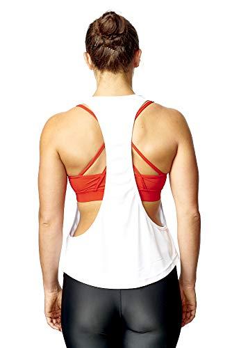 Sport De T shirt D'entraînement Blanc Femme Pour Large SqCAaCwxv
