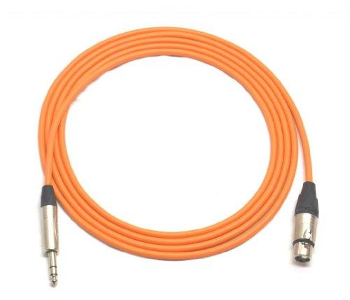 10 ft Canare Quad Balanced Patch Cable Orange Neutrik XLR Female - 1/4