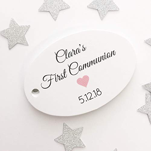 (First Communion or Baptism or Christening Favor Hang Tags)