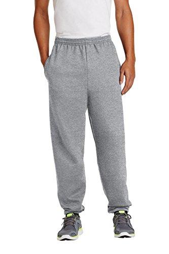 Port & Company Men's Big Elastic Waist Pocket Sweatpant, Athletic Heather, - Sweatpants Drawstring & Port Company