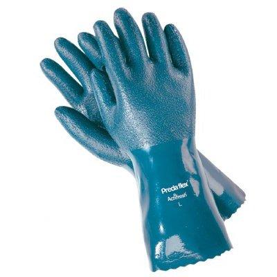 Nitrile Coated Gloves - 12'' large predaflex nitrile coated gauntlet cu
