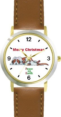 peace-on-earth-sleeping-brown-white-dog-cat-cartoon-or-comic-jp-animal-watchbuddy-deluxe-two-tone-th
