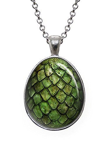 Green Dragon Egg Pendant, Game of Thrones Necklace, Geek Jewelry, Girl Gift, Birthday Gifts, khaleesi, Daenerys (Dragon Girl Game Of Thrones)