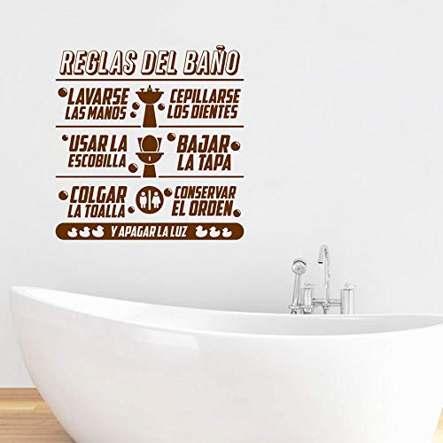 Amazon.com: Spanish Bathroom Rules Quotes Wall Vinyl Stickers | Mural Children Bathroom Art Spanish Wall Stickers: Cell Phones & Accessories