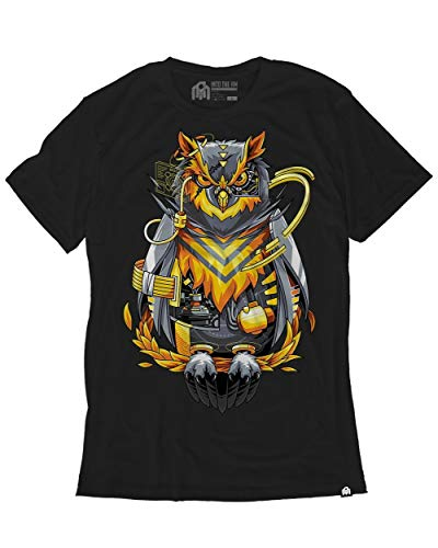 INTO THE AM Cyber Owl Men's Graphic Tee Shirt (Large) ()