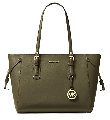 (MICHAEL Michael Kors Voyager Medium Multifunction Top-Zip Tote (Olive) )