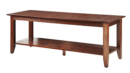Convenience Concepts American Heritage Coffee Table with Shelf, Espresso ()