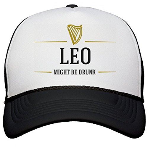 leo-might-be-drunk-snapback-mesh-trucker-hat