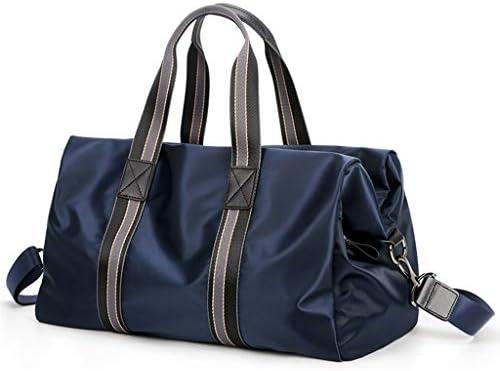 多目的カジュアルメンズ荷物バッグポータブル大容量のファッションゴルフの服バッグ高品質オックスフォード布素材アンチリンクルブラック、ブルーを着用してください HMMSP (Color : Blue)