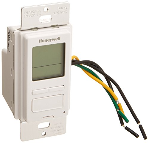 Honeywell PLS550A1006 EconoSwitch Programmable Timer Switch, White