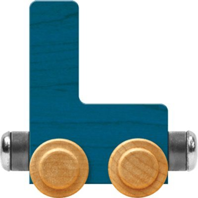 NameTrain Bright Letter Car L - Made in USA (Blue)