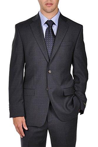 Ralph Lauren Two Button Suit (Ralph Lauren Navy Plaid 2 Button Modern Style Fit Dress Suit)