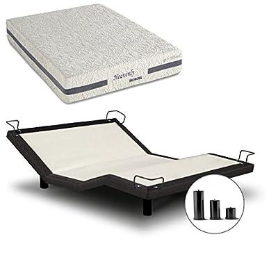 iDealBed Heavenly Hybrid Mattress Reverie 5I Adjustable Bed Set, Wireless, Massage, Zero Gravity, Anti Snore, Queen