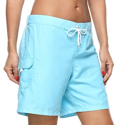 beautyin Beach Trunks for Womens Swimwear Boardshorts Bathing Suit Bottom