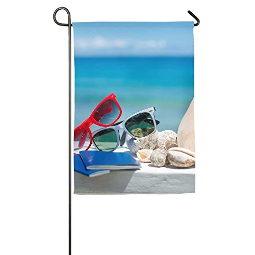 amuseds Conch And Sunglass Summer Garden Flag Yard Decoratio