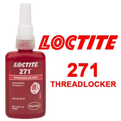 Loctite 271 Threadlocker High Strength - Red Liquid 50 ml Bottle Suitable for Large Fasteners