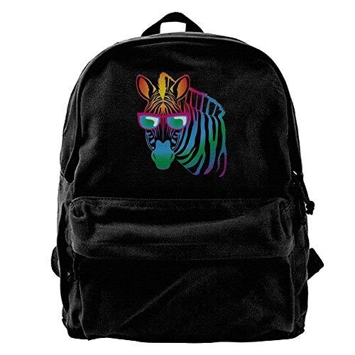 Blcak Cool Bag Backpack Men's Canvas Sunglasses Zebra Shoulder Fregrthtg Durable Travel q7OE8