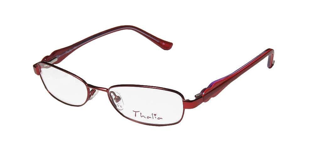 Thalia Fiel Childrens/Girls/Kids Designer Full-rim Spring Hinges Upscale For Teens In Style Eyeglasses/Eye Glasses Navy / White / Green)