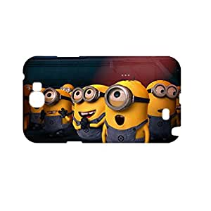 Generic Hard Plastic Back Phone Case For Teen Girls Design With Despicable Me Minions For Samsung Galaxy Note2 Full Body Choose Design 1-8