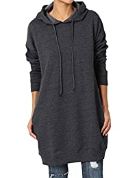Casual Oversized Crew Neck Sweatshirts Loose Fit Pullover Tunic S~3XL