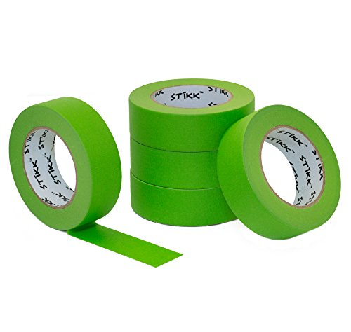 KK Green Painters Tape 14 Day Clean Release Trim Edge Finishing Masking Tape (1.44 IN 36MM) ()