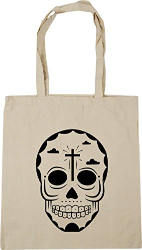 10 Beach HippoWarehouse 6 skull Natural Tote Bag Shopping litres Gym x38cm 42cm AqzwUOqHxn