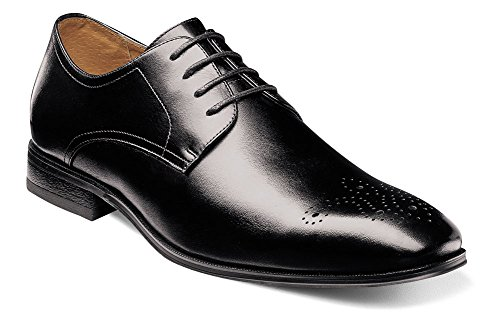 Florsheim Mens Corbetta Plain Toe Oxford Nero Liscio