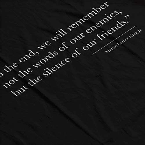 We Martin Silence The Women's Jr Quote Friends Remember Of King Sweatshirt Black Our Luther Will rq0TFwr