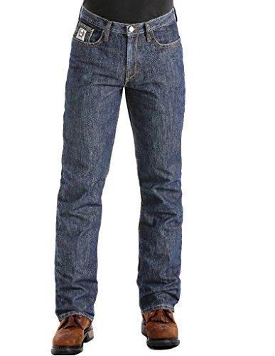 Cinch Men's FR White Label Relaxed Fit Jean, Dark Rinse Indigo, 44W x 32L ()