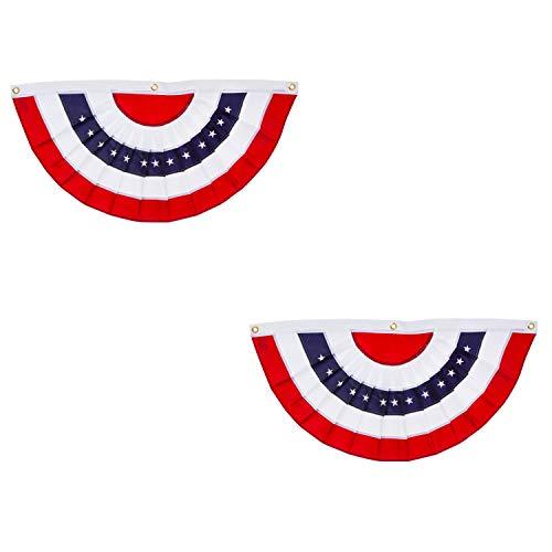 (Evergreen Flag Patriotic Applique Bunting (5 x 2.5, Set of 2))