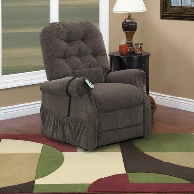 25 Series Wide Two-Way Reclining Lift Chair Moveable Infrared Heat: No, Vibration and Heat: 2 Vib/Heat, Upholstery: Aaron Light (Series Wide Lift Chair)