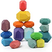 Holdax Premium Quality Jenga Colored Stones | 12 / 16 pcs Luxury Sets | Perfect Gift for Kids, Adults, and your Beloved...