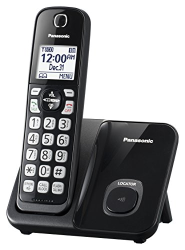 Panasonic KX-TGD510B Expandable Cordless Phone with Call Block - 1 Handset