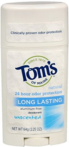 Tom's of Maine Natural Care Deodorant Stick Unscented 2.25 oz (Pack of 2)