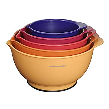 KitchenAid Classic Mixing Bowls (Set of 5), Assorted