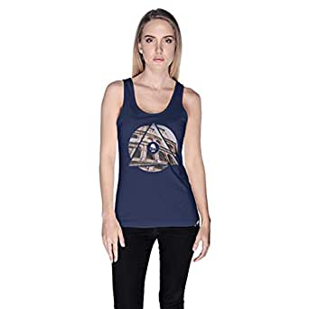 Creo Rome Tank Top For Women - S, Navy Blue