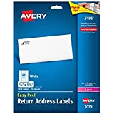 Avery Easy Peel Return Address Labels, 0.66 x 1.75 Inches, White, Pack of 1500  (5195)