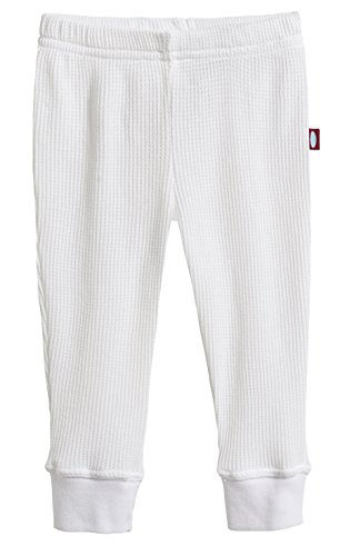 City Threads Baby Boys and Baby Girls Soft Cotton Thermal Cuffed Baby Newborn Infants Pants Joggers for Sensitive Skin or SPD Sensory Friendly Clothing, White, 9/12 m ()