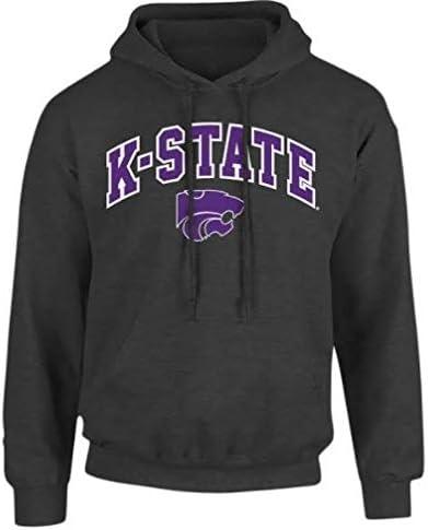 Elite Fan Shop NCAA Herren Kapuzenpullover Kansas State Wildcats Dark Heather Arch Kansas State Wildcats Dark Heather XL