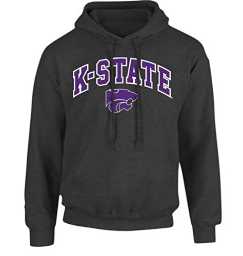 Kansas State Wildcats Hooded Sweatshirt Arch Charcoal - L