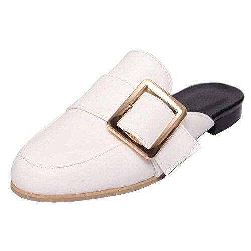 Schuhe Mule Weiß Closed Toe Women Coolcept Summer SwXqfCC