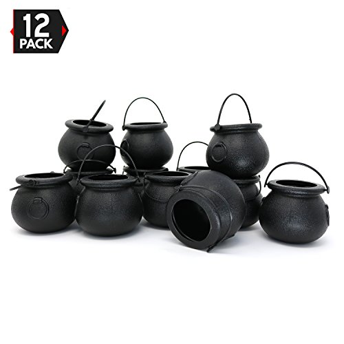Candy Cauldron Kettles - 1 Dozen Party Decoration Supplies by Big Mo's Toys -
