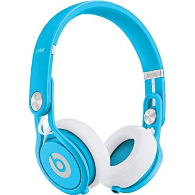 Beats by Dr. Dre Mixr - Lightweight DJ Headphones (Blue) w/Cable with Microphones and Zorrosounds Custom Cloth