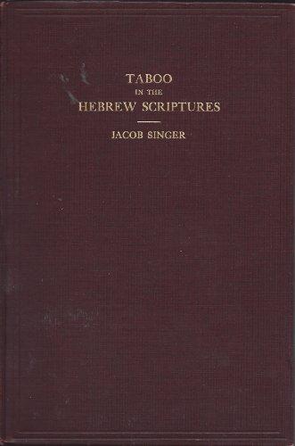 Taboo In The Hebrew Scriptures.